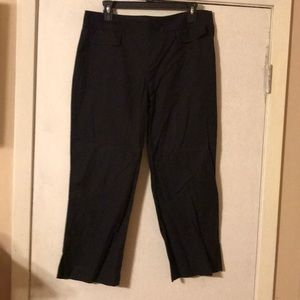 Ann Taylor Loft, side zip, black capris size 10